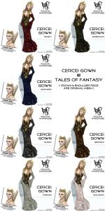 Wicca's Wardrobe - Cercei Gown